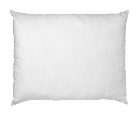 Photo pour close up of  a white pillow on white background - image libre de droit