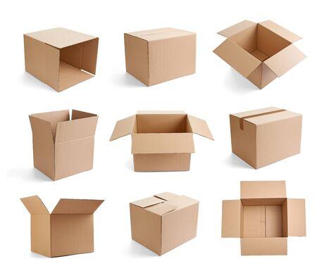 Foto für close up of  a cardboard box on white background - Lizenzfreies Bild
