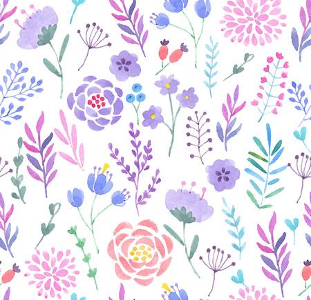 Illustration pour Watercolor seamless pattern. Vector illustration. - image libre de droit