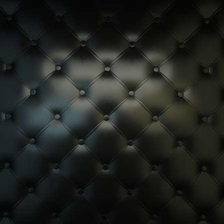Photo pour Sepia luxury buttoned black leather - image libre de droit