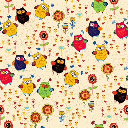 Cute colorful floral seamless pattern