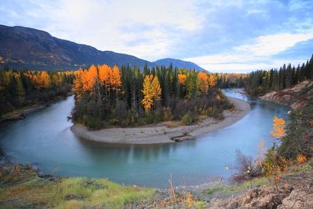 Autumn colors along Northern British Columbia river