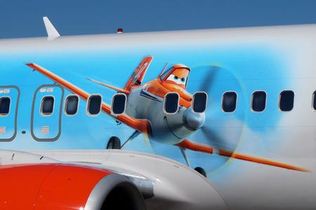 Animated plane on real plane
