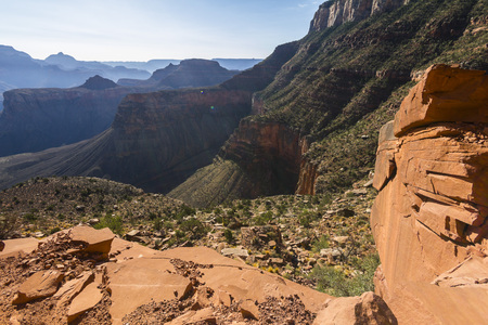 Grand Canyon Landscape Overview on South Kaibab Trail