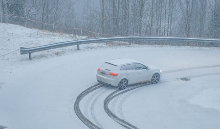snowy road trip without snow chains