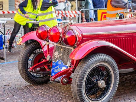 Foto de Meldola, Emilia Romagna - Italy 20 September 2020. the Nuvolari Grand Prix took place, the historic international race for FIA regularity, a great ACI-SPORT event. - Imagen libre de derechos