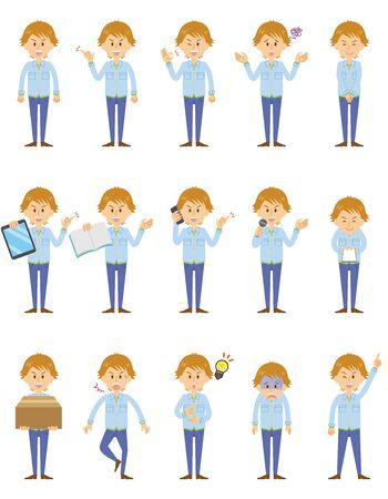 Illustration pour young man set - image libre de droit