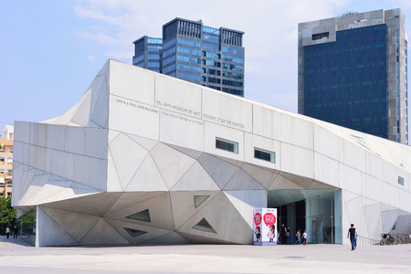 TEL AVIV, ISRAEL - APRIL, 2017: Architectural Style Origami. The new building of the Museum of Art in Tel Aviv.