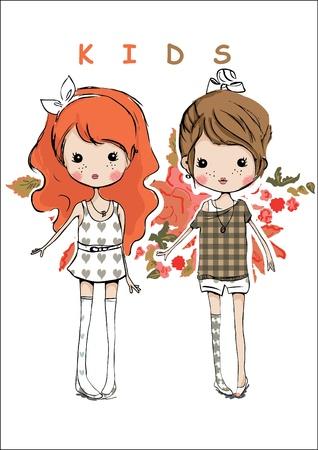 Ilustración de illustration kids - Imagen libre de derechos