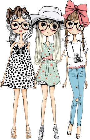Ilustración de illustration sketch girl collection - Imagen libre de derechos