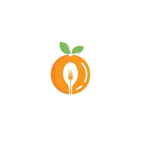 Illustration pour Healthy food logo design. Diet and weight loss concept. - image libre de droit
