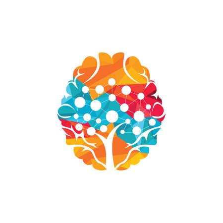 Illustration pour Brain technology vector logo design. Robotic Brain logo template. - image libre de droit