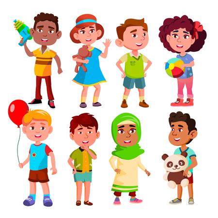 Ilustración de Vector. Multinational Child Person Group. Illustration - Imagen libre de derechos