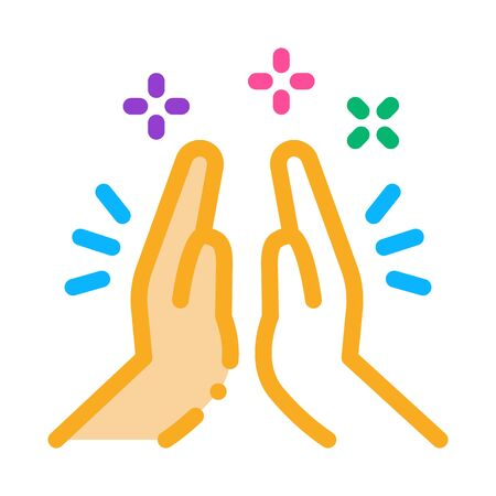 Illustration pour Hand Clapping Icon Vector. Outline Hand Clapping Sign. Isolated Contour Symbol Illustration - image libre de droit