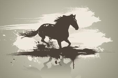 Artistic horse illustration.