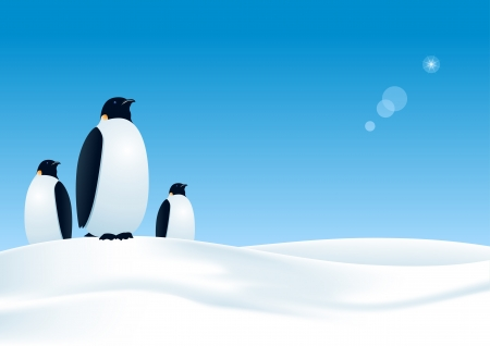 three penguins waiting  All elements layered separately in file  mesh used
