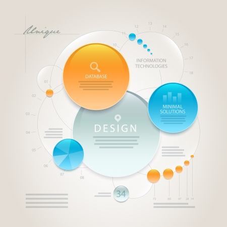 Vector abstract minimal information design template  Elements are layered separately in vector file  Easy editable