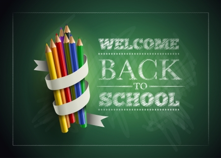 Illustration pour Welcome back to school. Vector illustration.  - image libre de droit