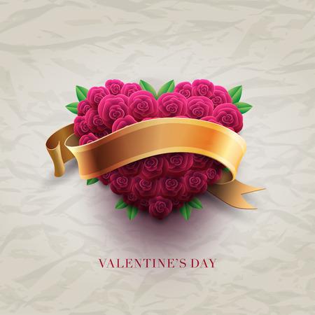 Valentine\'s Day roses
