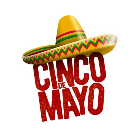 Illustration pour Cinco de Mayo holiday poster design. Vector illustration. - image libre de droit