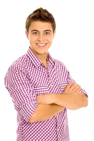 Young man with arms folded