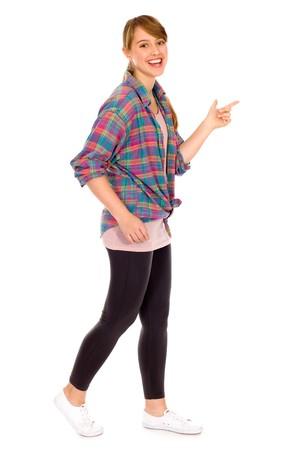 Photo pour Girl walking - image libre de droit