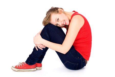 Photo for Teenage girl sitting - Royalty Free Image