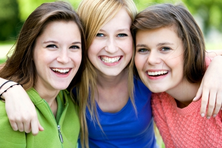 Three Young Women Friends