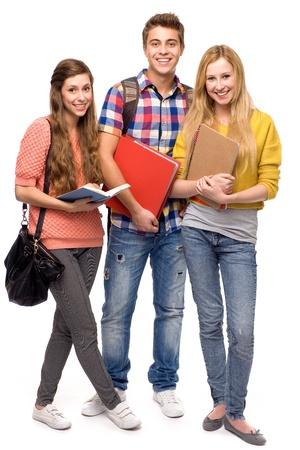 Photo pour Students holding books - image libre de droit