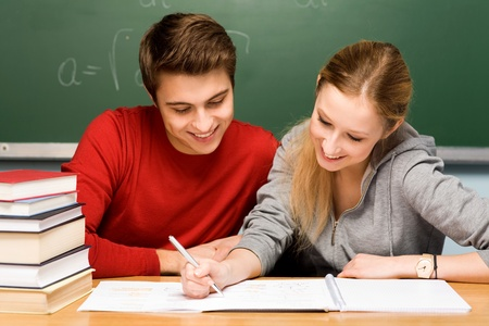Photo for Students doing homework - Royalty Free Image