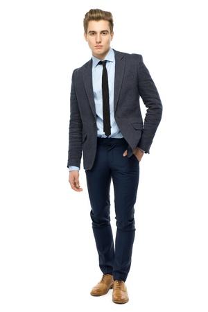 Stylish man wearing suit