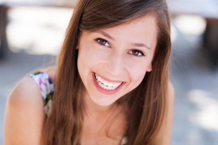 Photo for Young woman smiling - Royalty Free Image