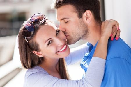 Photo pour Affectionate young couple - image libre de droit