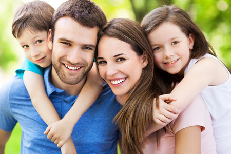 Photo for Happy family outdoors - Royalty Free Image
