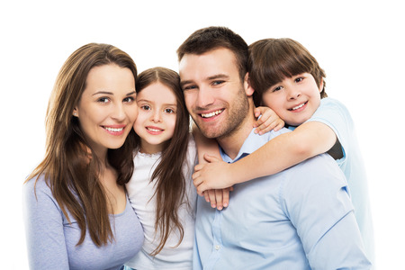 Photo for Young family with two kids - Royalty Free Image