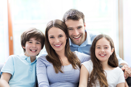 Photo for Happy family at home - Royalty Free Image