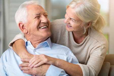 Photo for Portrait of a senior couple relaxing at home - Royalty Free Image