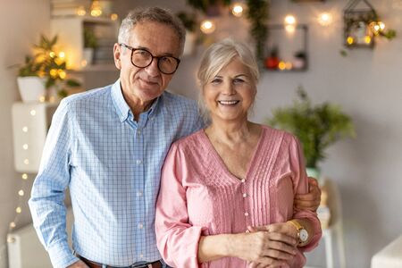 Photo for Portrait of a happy senior couple at home - Royalty Free Image