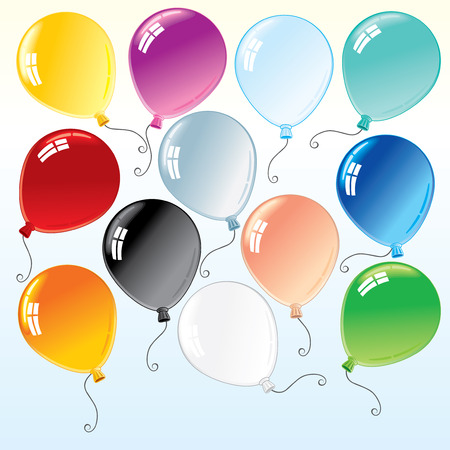Beauty colorful isolated balloons for your design