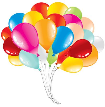 Bunch of anniversary balloons-vector illustration
