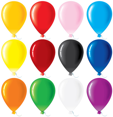 Colorful glossy balloons -vector set