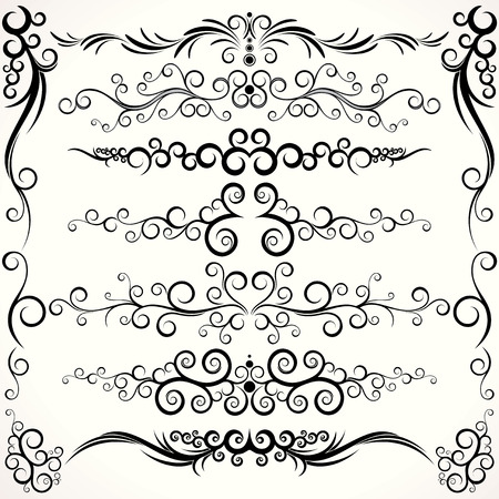 Abstract design elements collection - clip-art