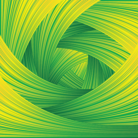 Fresh Green Swirl Background. Vector Concept Image