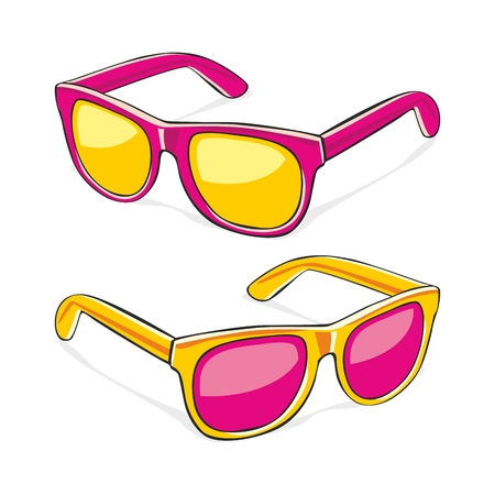 fully editable illustration of sun glasses
