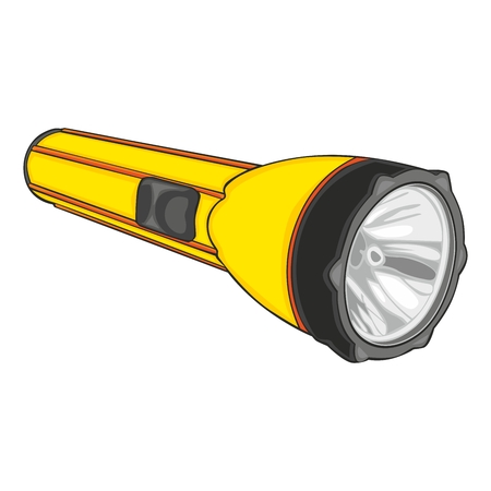 fully editable illustration of isolated flashlight