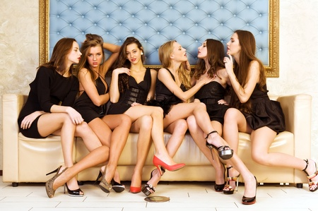 Group Portrait of six beautiful women