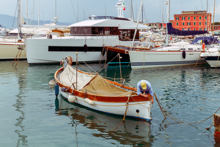 Saint Margherita Ligure. Old Harbor.