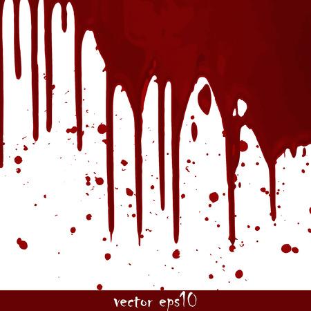 Splattered blood stains - Vector illustration.