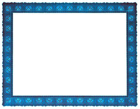 Photo pour Glowing blue frame, blanked. - image libre de droit