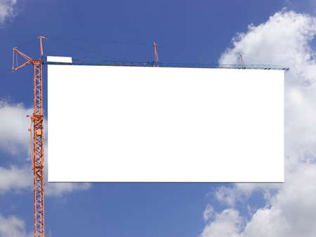 Photo for Blank billboard against blue sky on day noon light.. - Royalty Free Image